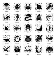 Underwater and Sea Creatures vector