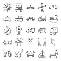 Automobile and Vehicles vector