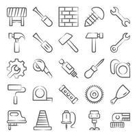 herramientas y equipos de construcción vector
