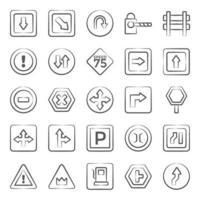 símbolo y señal de tráfico de moda vector