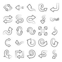 Collection of Navigation Arrows vector