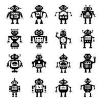 tecnología moderna de robots humanoides vector