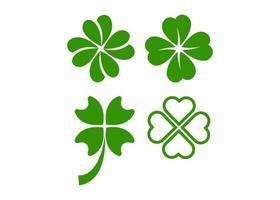Clover leaf icon illustration vector set