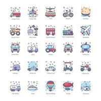 Public Vehicles and Transport vector