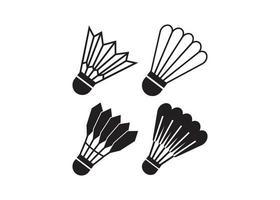 Shuttlecock icon illustration vector set