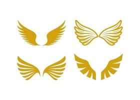 alas, icono, ilustración, vector, conjunto vector