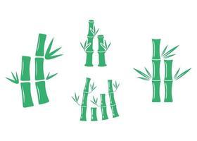 Bamboo icon illustration vector set