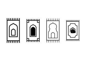 Ilustración de vector de plantilla de diseño de icono de alfombra de oración
