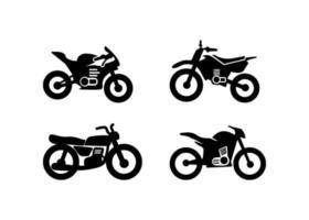 Ilustración de vector de plantilla de diseño de icono de motocicleta