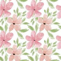 watercolor petal flower seamless pattern pastel vector