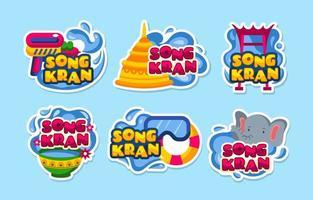 Water Splash Fun During Songkran vector