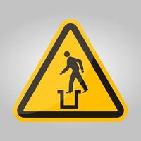 Beware Bottomless Pit Symbol Sign Isolate On White Background,Vector Illustration EPS.10 vector