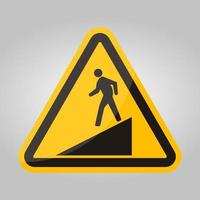 Beware Slope Symbol Sign Isolate On White Background,Vector Illustration EPS.10 vector