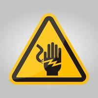 Signo de símbolo de electrocución de descarga eléctrica, ilustración vectorial, aislar en la etiqueta de fondo blanco .eps10