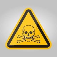 Signo de símbolo de material tóxico aislado sobre fondo blanco, ilustración vectorial eps.10