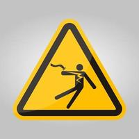 Electrical Shock Electrocution Symbol Sign Isolate On White Background,Vector Illustration EPS.10 vector