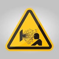 Explosión de liberación de signo de símbolo de presión, ilustración vectorial, aislar en la etiqueta de fondo blanco .eps10