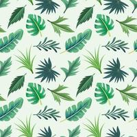 de patrones sin fisuras con hermosas hojas tropicales exóticas.