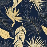 patrón transparente con hojas tropicales. elegante fondo exótico.