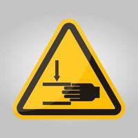 fuerza de aplastamiento de la mano desde arriba símbolo de signo, ilustración vectorial, aislar en la etiqueta de fondo blanco .eps10 vector