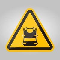 Symbol Wear Vest Isolate On White Background,Vector Illustration EPS.10 vector