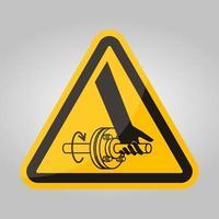 Enredo del signo de símbolo de eje giratorio de mano aislar sobre fondo blanco, ilustración vectorial eps.10