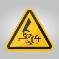 Corte de dedos, símbolo de eje giratorio, signo aislado sobre fondo blanco, ilustración vectorial eps.10