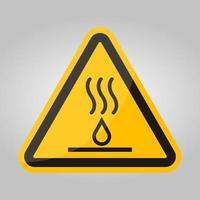 Signo de símbolo de líquidos calientes aislar sobre fondo blanco, ilustración vectorial eps.10