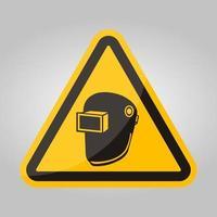Symbol Wear Welding Helmet Isolate On White Background,Vector Illustration EPS.10 vector