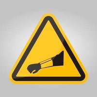 símbolo desgaste brazo protección signo aislar sobre fondo blanco, ilustración vectorial eps.10 vector