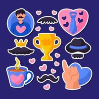 Icon Fathers Day Sticker Pack vector