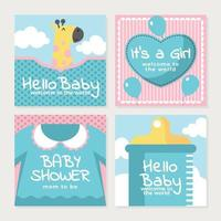 Celebrate A Newborn Baby Girl Arrival vector