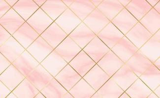 Stone tiles, texture white with red marble background, golden lines - Vector