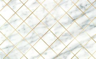 Stone tiles, texture white with black marble background, golden lines - Vector