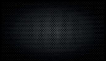 Fondo perforado negro con agujeros negros y resplandor. vector