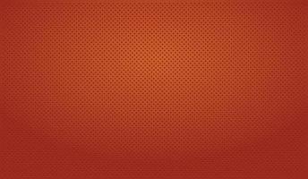 Fondo rojo perforado con agujeros rojos y un resplandor. vector