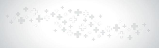 Bright panoramic background with many crosses - vector