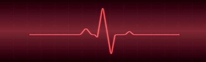 Heart pulse - curved red line on a red-black background vector