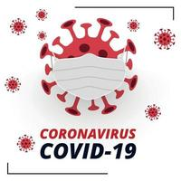 Dangerous new virus COVID-19, the image of bacteria - Vector