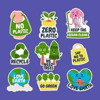 Fun and Casual Earth Day Sticker vector