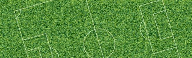 Realistic classic football field with two-tone green coating vector