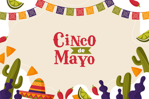 Cinco de Mayo Background in Flat Style vector
