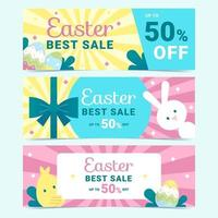 Easter Sale Banner Collection vector