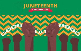 Juneteenth Freedom Celebration vector