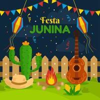 Happy Festa Junina Background vector