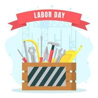 Labor Day Tools Background vector