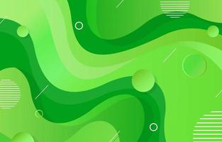 Green Fluid Abstract Background