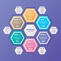 Infographic Element in Gradient Style vector