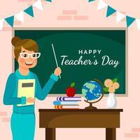 Teacher's Day in Flat Design Style vector