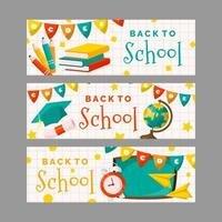 Back to School Banner Collection vector